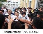 Small photo of George Town, Penang, August 2017 : Penang State Government members protesting in front of Magistrates Court in conjunction of the arrest of EXCO member