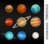 vector transparent realistic... | Shutterstock .eps vector #708422413