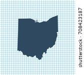 map of ohio   Shutterstock .eps vector #708423187