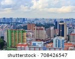 cityscape view of singapore city | Shutterstock . vector #708426547