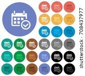 calendar check multi colored...   Shutterstock .eps vector #708437977