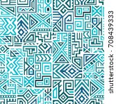 creative ethnic style square... | Shutterstock .eps vector #708439333