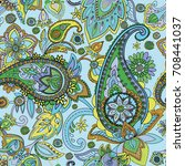 paisley. a pattern based on the ... | Shutterstock .eps vector #708441037