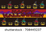it is an icon of halloween.... | Shutterstock .eps vector #708445237