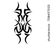tribal tattoo art designs.... | Shutterstock .eps vector #708457033