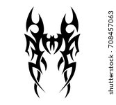 tribal tattoo art designs.... | Shutterstock .eps vector #708457063