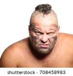 angry  aggressive  bearded man... | Shutterstock . vector #708458983