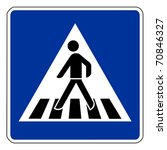 pedestrian crossing sign... | Shutterstock . vector #70846327