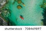 whitewater kayaker on the... | Shutterstock . vector #708469897