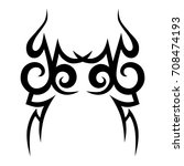 tattoo tribal vector design.... | Shutterstock .eps vector #708474193