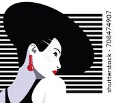 fashion woman in style pop art. ... | Shutterstock .eps vector #708474907