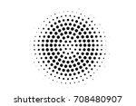 black and white centered... | Shutterstock .eps vector #708480907