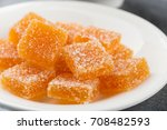 homemade orange marmalade candy.... | Shutterstock . vector #708482593