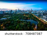 lumpini park  the lungs of... | Shutterstock . vector #708487387