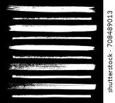 set of hand drawn ink grunge... | Shutterstock .eps vector #708489013
