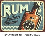 Rum Vintage Tin Sign. Retro...