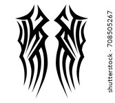 tribal tattoo art designs.... | Shutterstock .eps vector #708505267