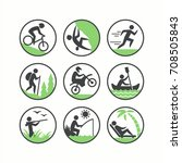 recreation and lifestyle icons... | Shutterstock .eps vector #708505843