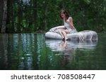 a hidden place. sleeping woman...   Shutterstock . vector #708508447