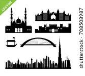 dubai  united arab emirates... | Shutterstock .eps vector #708508987