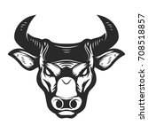 bull head icon isolated on... | Shutterstock .eps vector #708518857