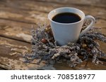 close up of black coffee on... | Shutterstock . vector #708518977