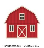 farm building icon flat style.... | Shutterstock .eps vector #708523117