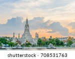 wat arun ratchawararam... | Shutterstock . vector #708531763