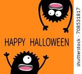 two black screaming monster...   Shutterstock .eps vector #708531817