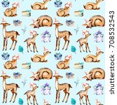 seamless pattern with... | Shutterstock . vector #708532543