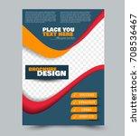 blue  red  and orange flyer... | Shutterstock .eps vector #708536467