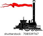 an old steam locomotive with a... | Shutterstock .eps vector #708539767