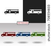 bus icon | Shutterstock .eps vector #708554833