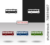 bus icon | Shutterstock .eps vector #708554857