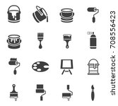 paint can icons | Shutterstock .eps vector #708556423
