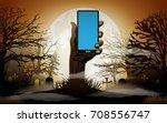 halloween background. zombie... | Shutterstock .eps vector #708556747