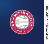 modern professional sport logo... | Shutterstock .eps vector #708557083