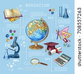 education and science... | Shutterstock .eps vector #708557263
