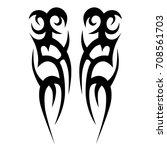 tattoo tribal vector design.... | Shutterstock .eps vector #708561703