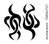 tattoo tribal vector design.... | Shutterstock .eps vector #708561727