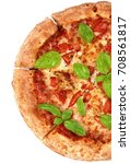 half of freshly baked... | Shutterstock . vector #708561817