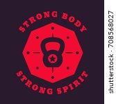 fitness  gym vintage logo ... | Shutterstock .eps vector #708568027