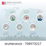 milestone timeline infographic...   Shutterstock .eps vector #708573217