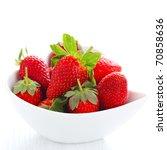 Fresh Strawberries In Bowl...