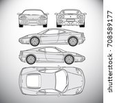 automobile.template for graphic ... | Shutterstock .eps vector #708589177