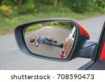 hit and run concept. view on... | Shutterstock . vector #708590473