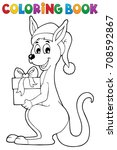 coloring book christmas... | Shutterstock .eps vector #708592867