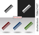comb icon | Shutterstock .eps vector #708617437