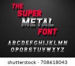 vector metal alphabet. dynamic...   Shutterstock .eps vector #708618043