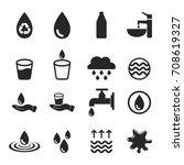 vector of water icons set | Shutterstock .eps vector #708619327